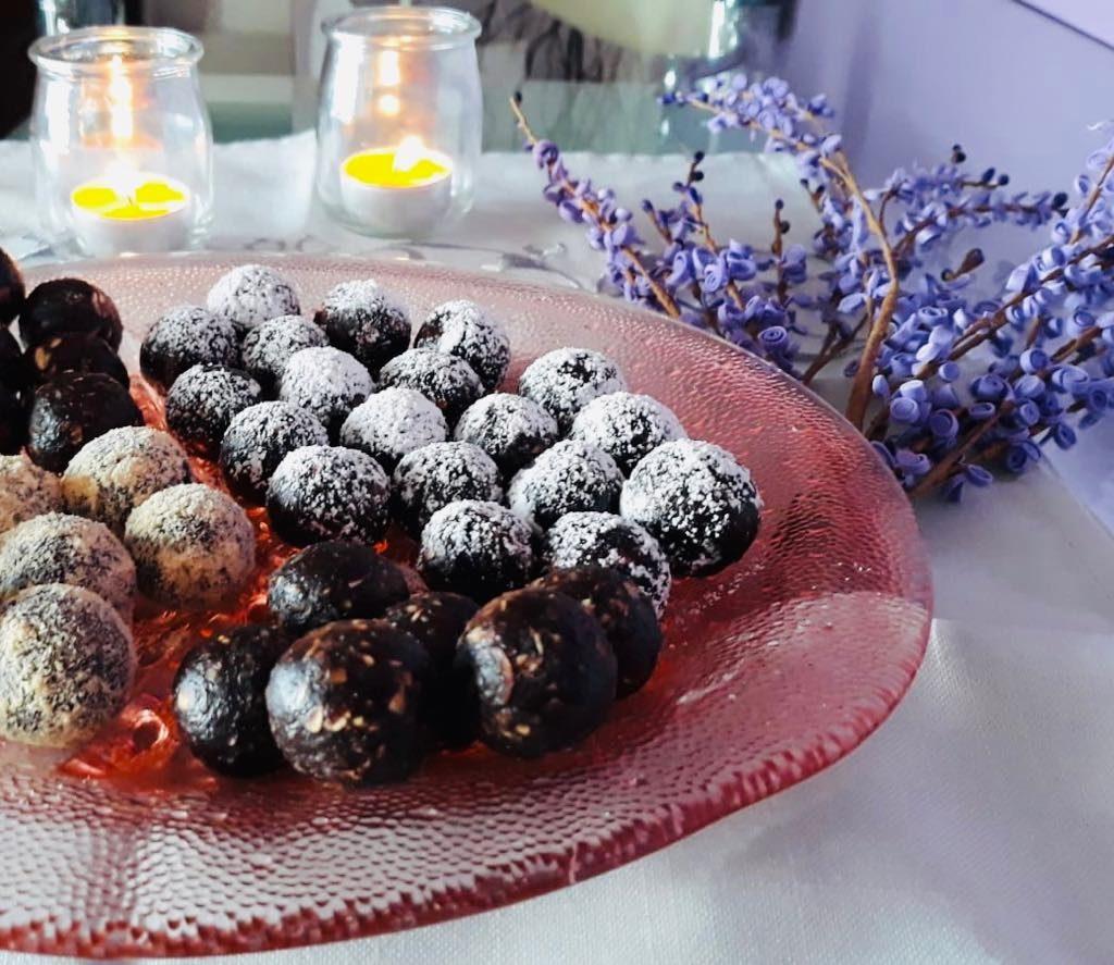 Trufle czekoladowe z płatków owsianych
